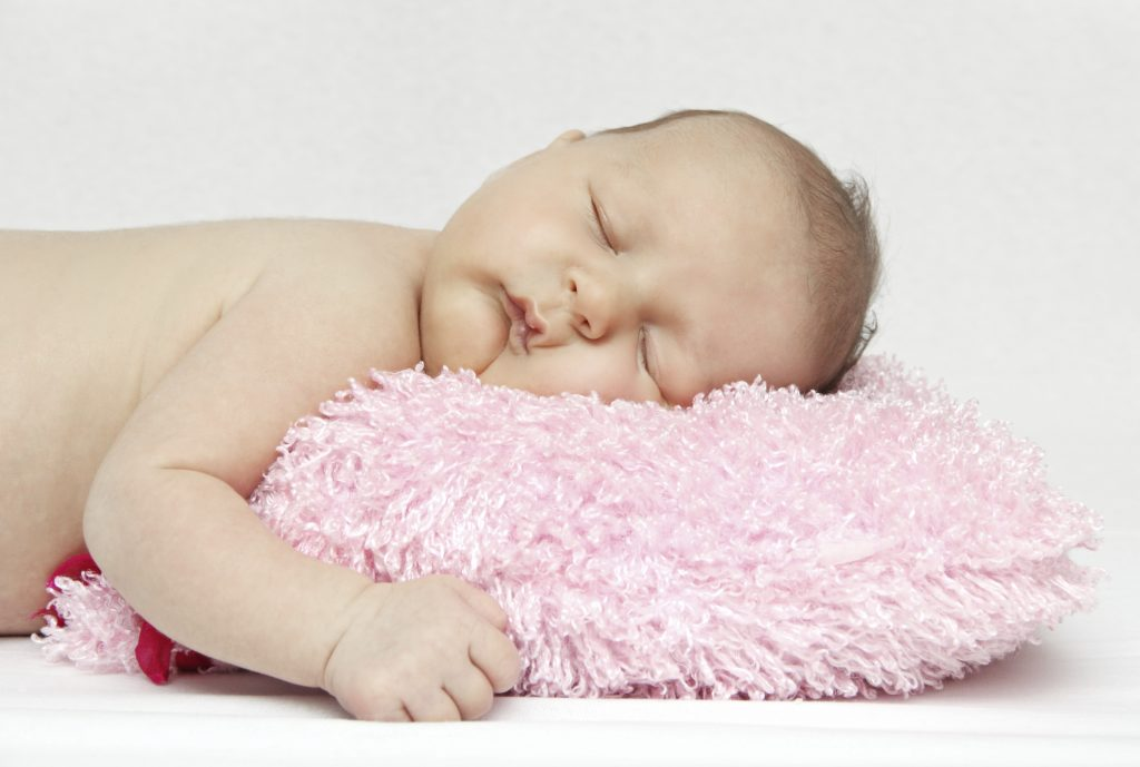 Beautiful sleeping newborn baby